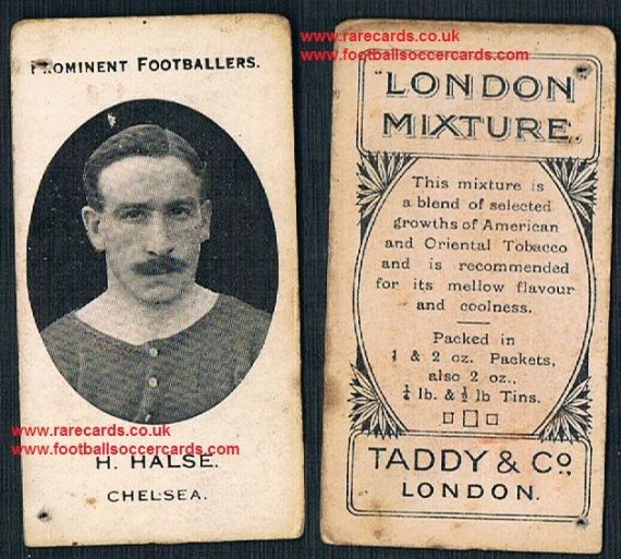 1914 Taddy 3rd series London Mixture tobacco card Halse Chelsea